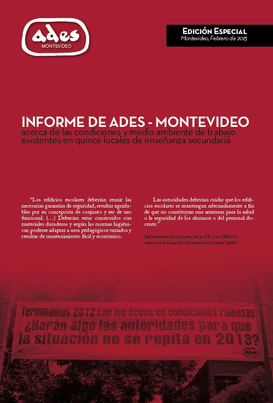 Informe sobre condiciones de trabajo en 15 liceos de Montevideo – 01/02/13