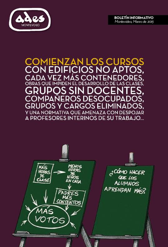 Boletín ADES Montevideo Marzo de 2013