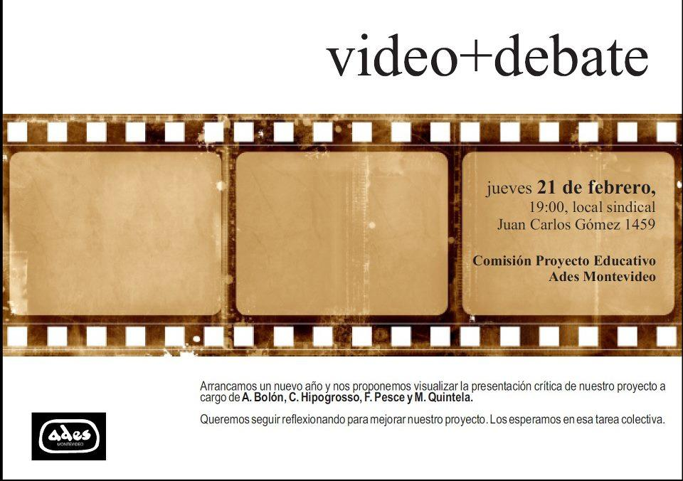 Informe Marzo 2013 de la Comisión Proyecto Educativo de ADES Montevideo