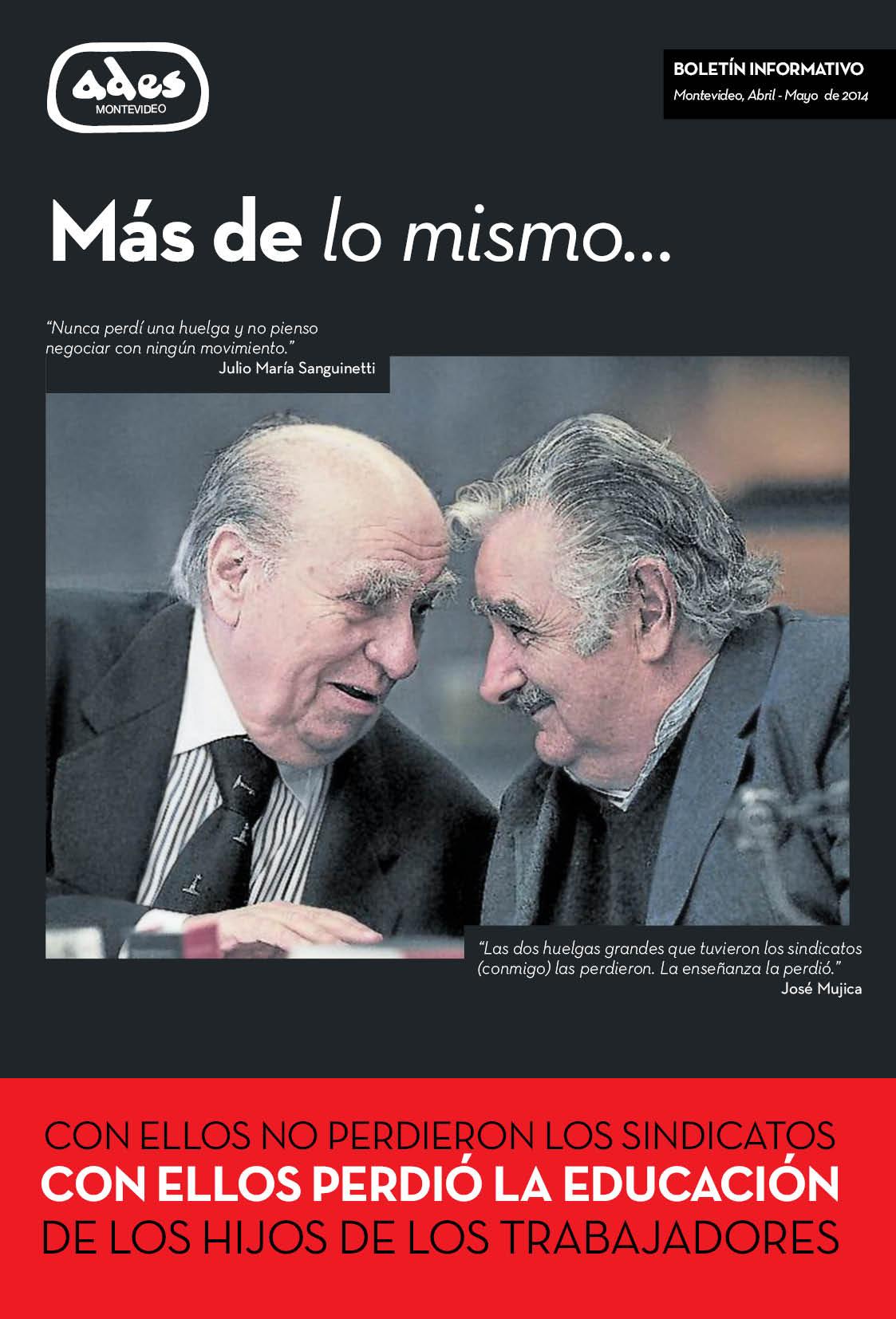 Boletín ADES Montevideo Abril-Mayo de 2014