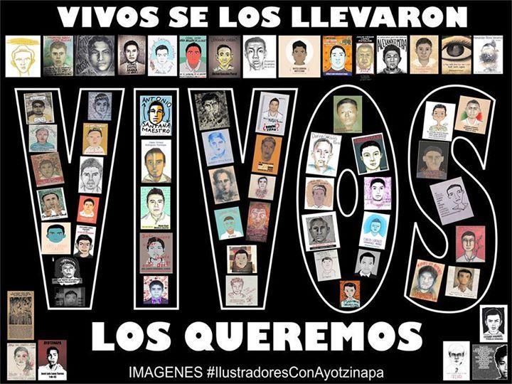 Repudio a desaparición de estudiantes en México