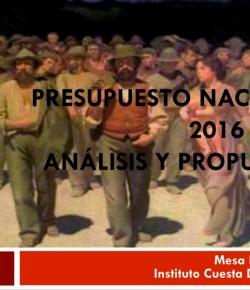 PIT-CNT / Cuesta Duarte: Análisis y propuestas para el Presupuesto Nacional 2016 – 2020