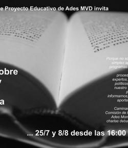 Charla – Debate sobre Política y Reforma Educativa: 08/08, IAVA, 16 hs.