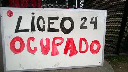 Núcleo sindical del Liceo N° 24 continuará el martes con la medida de ocupación exigiendo un ámbito de negociación con el CES
