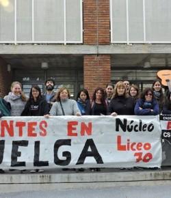 Imágenes de la Ocupación del Liceo 70 llevada a cabo por el Núcleo Sindical