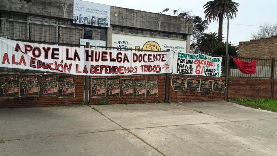"""Docentes del Liceo N° 36 """"I.B.O."""" ocuparán el liceo ante la superpoblación estudiantil"""