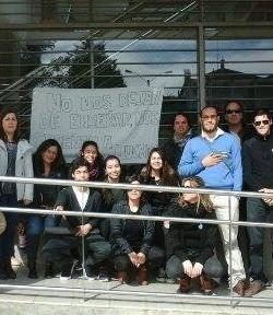 Imágenes de la Ocupación del IFD de Melo llevada a cabo por profesores y estudiantes