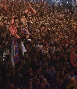 Movilización contra la represión. Cobertura de Rebelarte