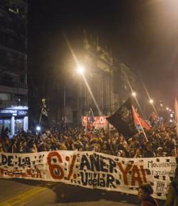 Marcha por el 6% del PBI y contra la criminalización de la protesta. rebelArte