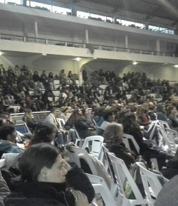 Imágenes de la Asamblea Intersindical – Gremial realizada en el Platense Patín Club