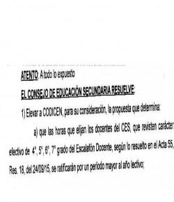 """CES eleva a CODICEN que horas efectivas de 4° a 7° grado """"se ratificarán por un período mayor al año lectivo"""""""