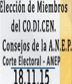 Elección de Representantes a CES y CODICEN: 18/11, de 9:00 a 19:30, con CI o CC, ver Plan Circuital de Mont.