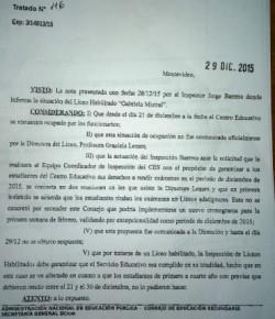Resolución del CES respecto al conflicto en el Gabriela Mistral