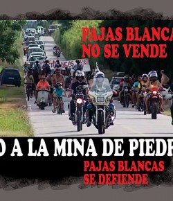 Proclama de la caravana contra la minería en Pajas Blancas