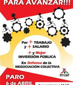 Miércoles 6 de abril: ADES Montevideo para de 9 a 13 horas
