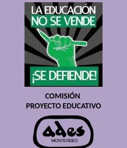 Reunión de la Comisión de Proyecto Educativo de ADES Montevideo: Viernes 27, Hora 20, Local Sindical