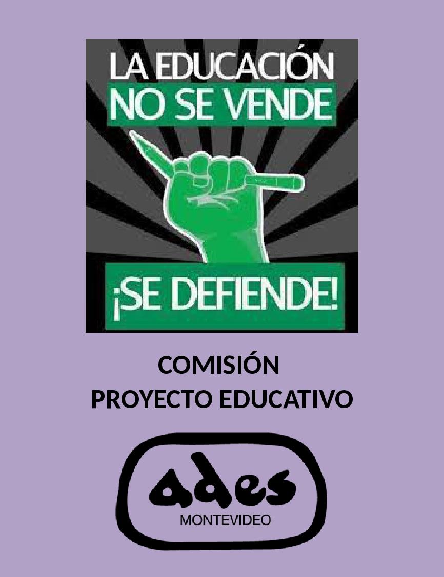 Sábado 24: reunión de la Comisión de Proyecto Educativo de ADES Montevideo