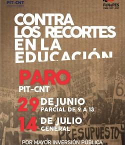 Paro PIT-CNT: 29 de junio, de 9:00 a 13:00 horas