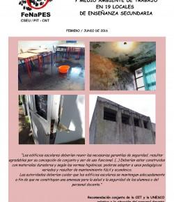 Informe de condiciones y medio ambiente de trabajo en 19 locales de enseñanza secundaria