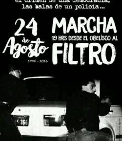 A 22 años de la masacre de Jacinto Vera: Marcha al Filtro. 24/08, Hora 19:00, Obelisco