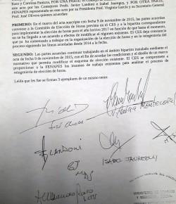 Informe de acuerdo entre FENAPES y CES sobre elección de horas para 2017