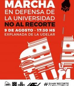 Marcha contra los recortes en educación: martes 9 de agosto, hora 17:30, Explanada de la UdelaR
