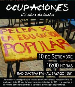 Charla-Debate a 20 años de las ocupaciones estudiantiles