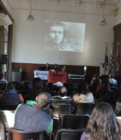 """Imágenes de la actividad de ADES Mont. y FENAPES: """"Educación pública: ¿patrimonio de quién?"""""""