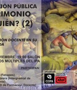 """""""La Formación Docente en su encrucijada"""": viernes 18 de noviembre, 19 horas, IPA"""