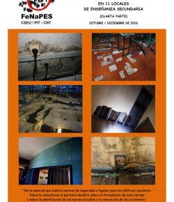 Cuarto Informe de Infraestructura Edilicia en locales de Secundaria