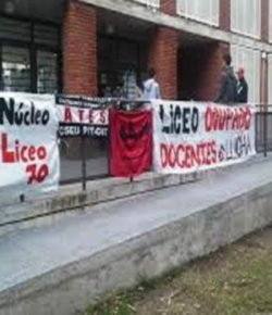 Núcleo Sindical del Liceo 70 realiza reclamos por matrícula, portería y horas de apoyo