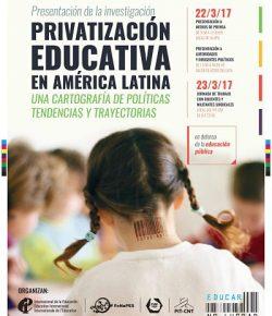 Actividad en el marco de la campaña mundial contra la privatización y el comercio educativo