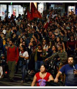 Imágenes de la marcha contra el decreto represivo