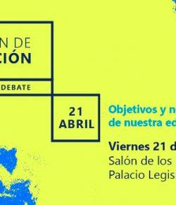 Cuestión de educación: encuentro y debate. Panelistas: Massera, Bolón y Martinis. Viernes 21, Hora 9:00
