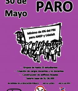 Martes 30 de mayo: Paro de ADES Montevideo en el marco de la FeNaPES. En Defensa de la Educación Pública