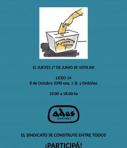 Jueves 1°: Elegimos a los integrantes de las Comisiones Directiva y Fiscal de ADES Montevideo