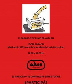 Sábado 3: Elegimos a los integrantes de las Comisiones Directiva y Fiscal de ADES Montevideo