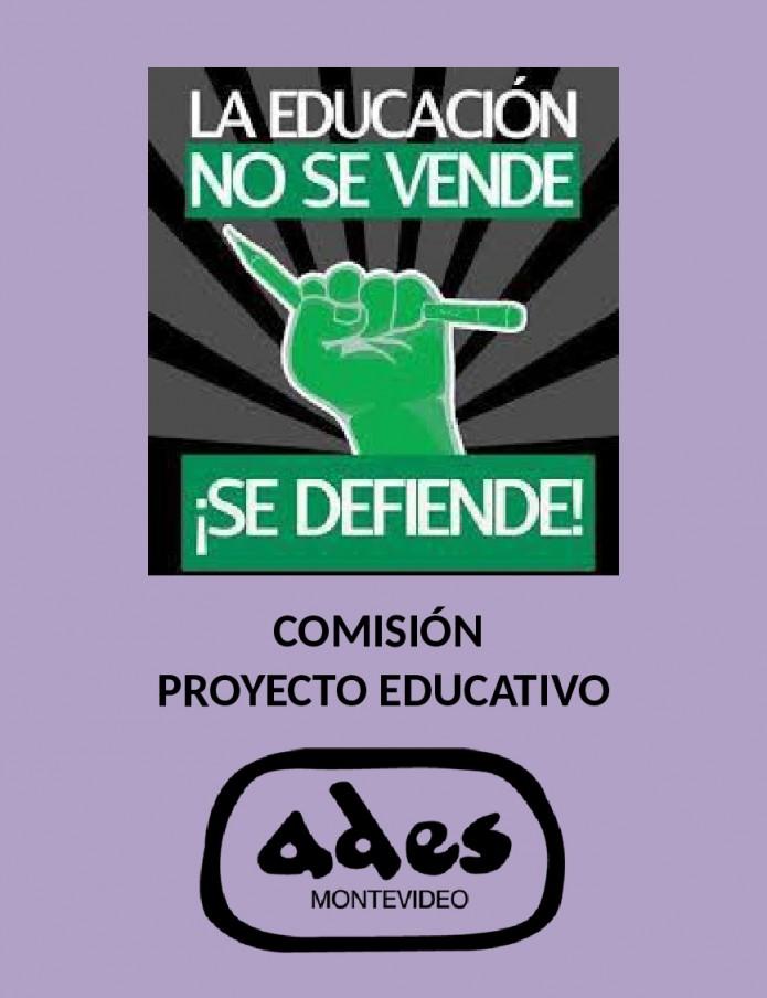 Sábado 7 de abril: reunión de la Comisión de Proyecto Educativo