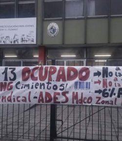 Comunicado a la opinión pública del Núcleo Sindical del Liceo 13, tras tres días de ocupación