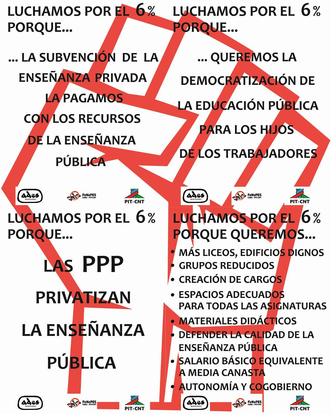 SUSPENDIDA Pegatina por más presupuesto para la educación publica.
