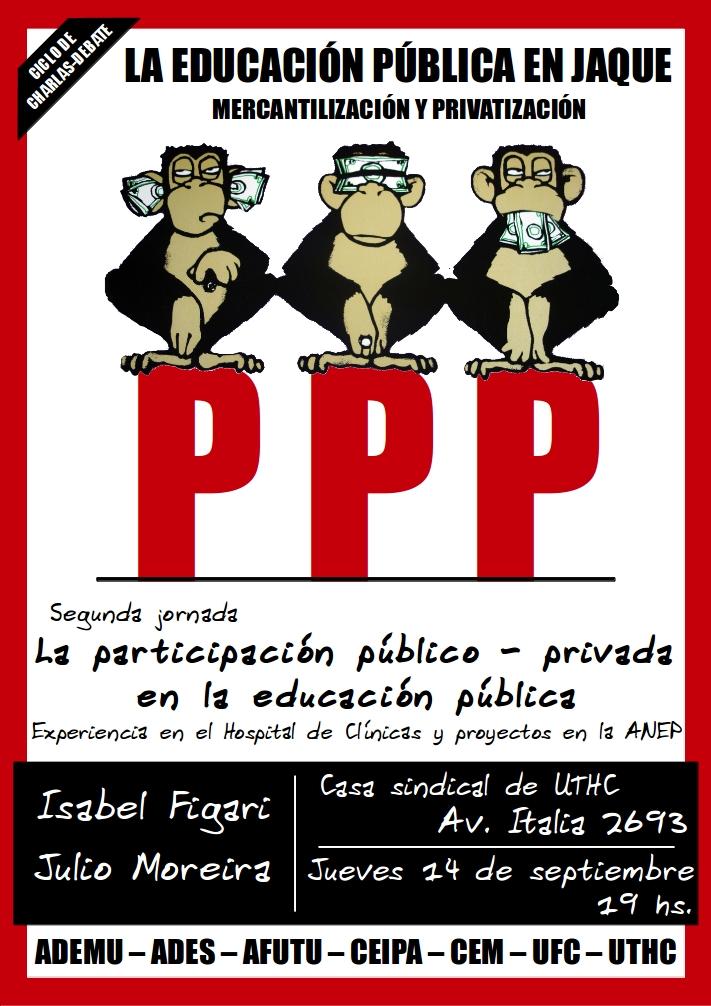 """Segunda jornada del ciclo de charlas-debate: """"La educación en Jaque"""": PPP en la educación pública"""