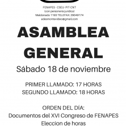 ASAMBLEA GENERAL DE ADES MONTEVIDEO 18/11