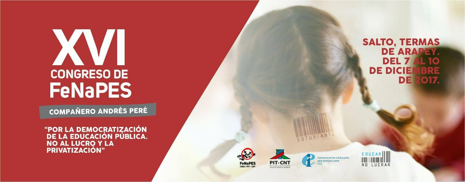Plazo para enviar insumos a ser discutidos en el XVI Congreso de FeNaPES