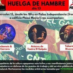 Huelga de hambre de UAOEGAS Miércoles 13/12 a las 18 hs en Plaza Independencia
