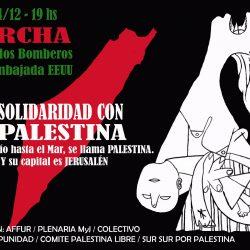Jueves 14/12 Marcha en solidaridad con Palestina