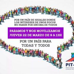 Mañana el PITCNT para de 9 a 13 y concentra en la explanada de la UdelaR a las 10.