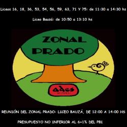 Paro y reunión del zonal Prado
