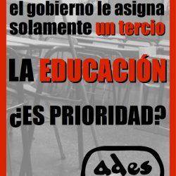 ¿La educación es prioridad?