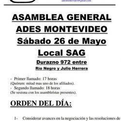 Asamblea general Sábado 26/05