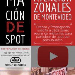 Convocatoria a los zonales para filmar corto